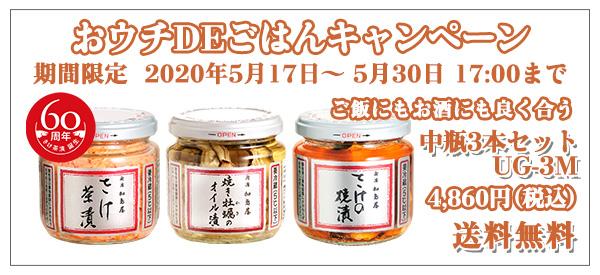 中瓶3本セット UG-3M 4,860円(税込)送料無料