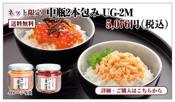 中瓶2本包み UG-2M 5,076円(税込) 送料無料